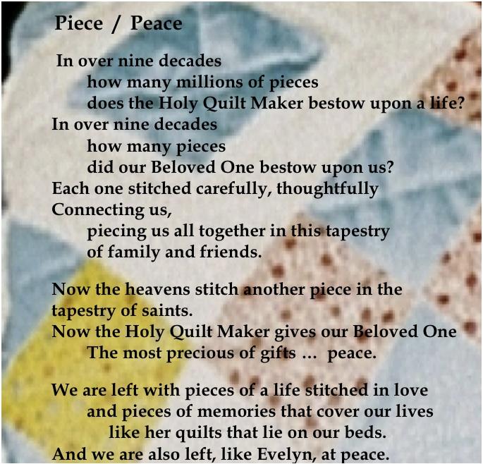 Quilt poem